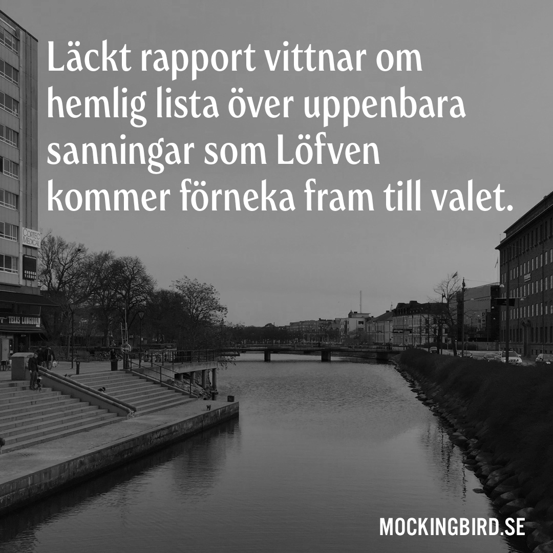 Läckt rapport vittnar om hemlig lista över uppenbara sanningar som Löfven kommer förneka fram till valet.
