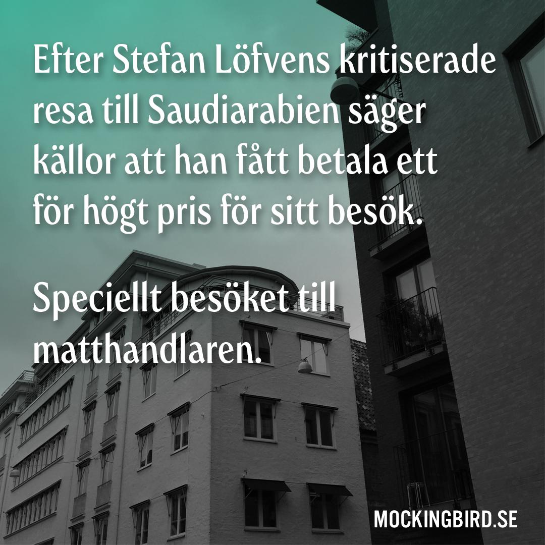 Efter Stefan Löfvens kritiserade resa till Saudiarabien säger källor att han fått betala ett för högt pris för sitt besök. Speciellt besöket till matthandlaren.