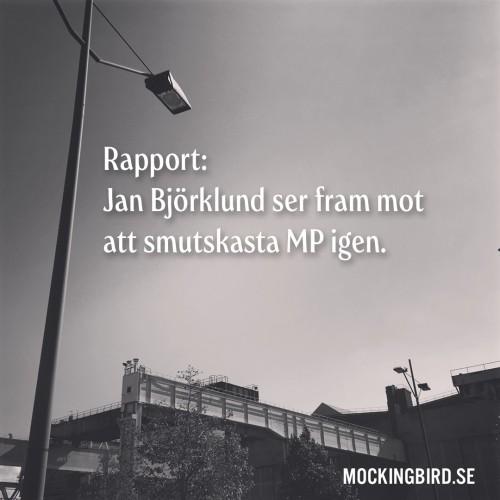Rapport: Jan Björklund ser fram mot att smutskasta MP igen.