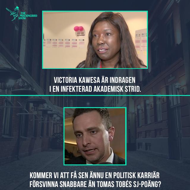 Victoria Kawesa (FI) är indragen i en infekterad akademisk strid. Kommer vi att få sen ännu en politisk karriär försvinna snabbare än Tomas Tobes SJ-poäng.